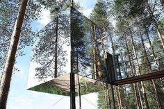Зеркальный отель на дереве, Харадс, Швеция