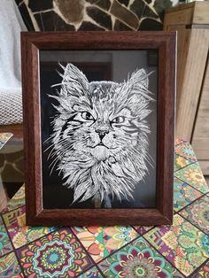 Glass, Frame, Home Decor, Etchings, Picture Frame, Decoration Home, Drinkware, Room Decor, Corning Glass