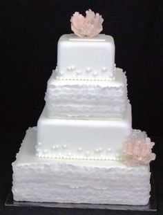 ruffles made from fondant and gum paste. Rental cost $225.00