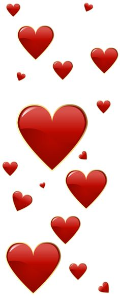 Valentine Red Hearts PNG Clipart
