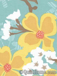Modern Meadow JD31-Sunglow Fabric by Joel Dewberry