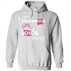 (NewMexico001) Just A New Mexico Girl In A Iowa World - #country shirt #sudaderas hoodie. MORE INFO => https://www.sunfrog.com/Valentines/-28NewMexico001-29-Just-A-New-Mexico-Girl-In-A-Iowa-World-White-Hoodie.html?68278