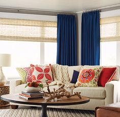 Enhance every room in your home with stylish curtains and drapes.  #BudgetBlinds