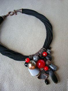 Купить Колье Дали. Графика - кулон, черный, Колье с подвеской, яркое колье, необычное украшение