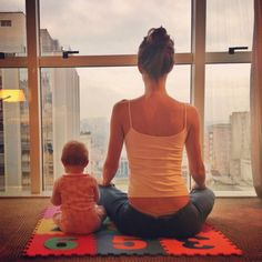 Love this - reminds me of Cat and me when she was so little. She used to always like to exercise with mama!