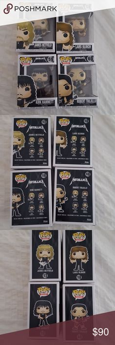 Funko pops! Metallica Rock Band! The band Metallica all four members present and past.. Mint Condition! funko Other