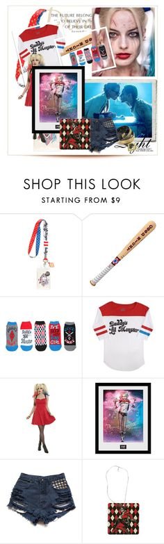 """""""HARLEY QUINN LOOK"""" by valeria-paola-1 ❤ liked on Polyvore featuring Swat and WALL"""