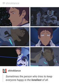 And that's why Lance is my favorite character. At The beginning he was only the funny guy and of course I liked him at first sight, but then when I found out how fragile and deep he can be I fell in love. I need a Lance in my life!