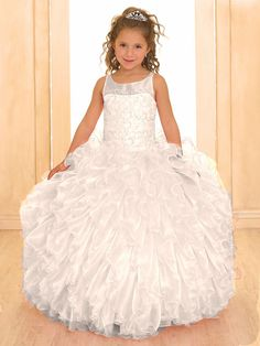 Electra - Blush Pink Organza Ruffled Pageant DressBlush Pink Organza Ruffled Pageant Dress Pageant Dress sizes 4 - 12 Fully lined, multi layered full ruffled organza gown Light pink as show Beaded Embroidered Design across the bodice Blush Flower Girl Dresses, Flower Girl Gown, Toddler Flower Girl Dresses, Little Girl Dresses, Organza Dress, Ball Gown Dresses, Ruffle Dress, Ruffles, Girls Pageant Dresses