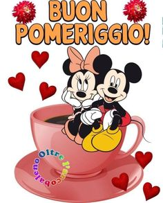 (243) Immagini e Frasi di buon pomeriggio da scaricare gratis - BuongiornoSpeciale.it Good Afternoon, Good Morning, Mickey Mouse, Disney Characters, Fictional Characters, Snoopy, Facebook, Frases, Kitchen
