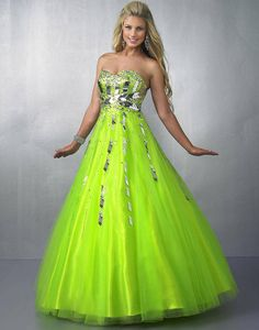 light green and blue quinceanera dresses Lime Green Prom Dresses, Neon Prom Dresses, Green Homecoming Dresses, Pretty Prom Dresses, Prom Dress 2014, Prom Dress Shopping, A Line Prom Dresses, Grad Dresses, Pageant Dresses