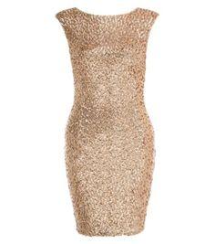 Gold Sequin Sleeveless Bodycon Dress