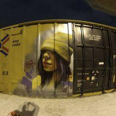 Gothenburg Sweden 2016 A selection of murals by Regina-born, Toronto-based artist Emmanuel Jarus. Best Graffiti, Graffiti Murals, Murals Street Art, Street Art Graffiti, Wall Writing, Shops, Train Art, Tumblr, Stock Art