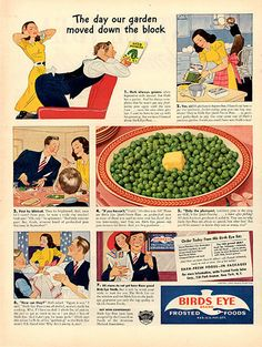 1940 Birds Eye Frozen Foods Original Print Ad
