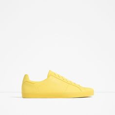 Yellow Monocolor Sport Shoes - Zara Men