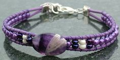 Orchid, purple, violet it's all here in this lovely chevron amethyst bracelet from Trinity Jewelry by Design!
