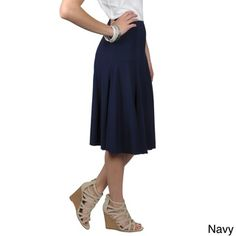 Journee Collection Women's Flowing Flare Skirt | Overstock™ Shopping - Top Rated Journee Collection Mid-length Skirts