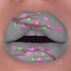 WEBSTA @ makeupaddictioncosmetics - Love this lip art by @sara_mua_!#MakeupAddictionCosmetics
