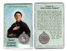 Prayer to Saint Gemma Galgani, patron saint of back pain