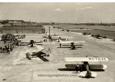 Planes at Swan Island Airport, Portland - 1930