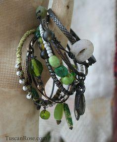 Spring Green bangle stack
