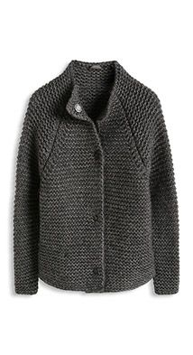 Esprit / thick-knit cardigan in blended wool # cable knit sweater outfit casual Knitting Paterns, Knitting Stitches, Knitting Designs, Only Cardigan, Strick Cardigan, Bolero, Vest Pattern, Knit Jacket, Double Knitting