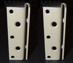 Pair Of Bed Frame Post Double Hook Brackets