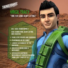 Virgil Tracy profile. Thunderbirds