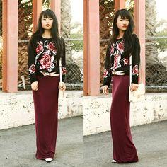 Burgundy Roses (by Natalie Liao) http://lookbook.nu/look/4302133-Burgundy-Roses
