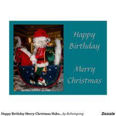 Happy Birthday Merry Christmas Hakuna Matata cards #amazing #stuff and #gift #products #sold on #zazzle