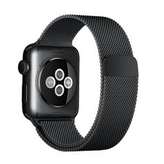 Designed in Milan, the 38mm Space Black Milanese Loop for Apple Watch is made from magnetic stainless steel mesh. Buy now with fast, free shipping.