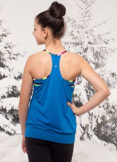 two layers are better than one in this stretchy, sweat-wicking tank. | Double Dutch Tank