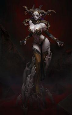 ArtStation - Empress of Desire, Yoon Seseon  #digitalpainting #illustration #character