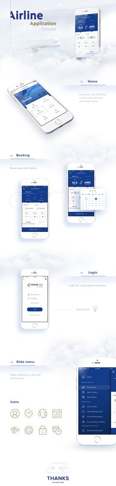 Design concept. UI elements and style