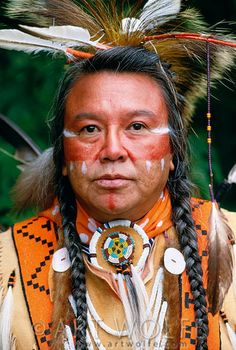 Portrait of a Kalispel man, USA | © Art Wolfe. Lots of other good pictures if you search Native American at this site