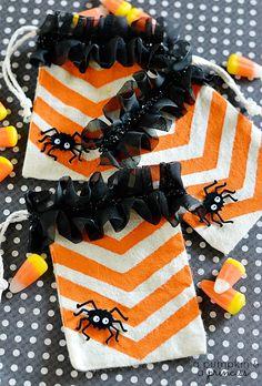 Chevron Halloween Treat Bags