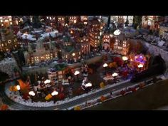 """Miniature Extreme Christmas Village"" from JuanCM5483 on YouTube.com  **Some helpful hints that you might have a problem with too many christmas decorations... you have a room dedicated to 1 display.** @Tori Alcala-Martini"