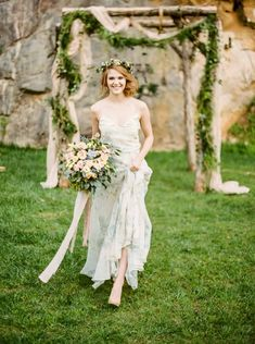 Woodland Wedding Inspiration in an Old Rock Quarry