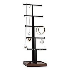 image of Umbra® Gemma 5-Tier Jewelry Tree in Natural/Black