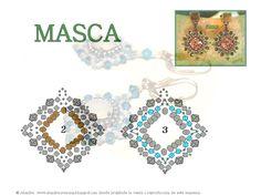Pattern bijoux: Orecchini Masca