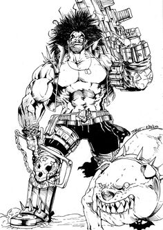 lobo comics wallpaper - Google Search