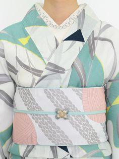 みつ編みを編んだ後には 半巾帯・白   DOUBLE MAISON