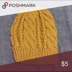 F21 Beanie Yellow mustard beanie. Brand new with tags! 100% acrylic.  SALE : Willing to bundle any two beanies for $8 Forever 21 Accessories Hats