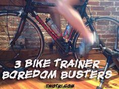 3 triathlon bike trainer boredom busters. #TwoTri