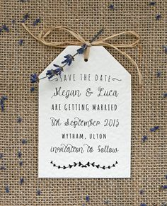 Rustic Vintage Lavender and Hessian Tag Style by LittleIndieStudio