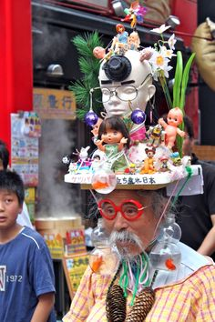 Miyama Eijiro outsider artist in Japan who makes elaborate hats