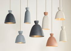Hasel, customizable ceramic pendants by Pigeon Toe (Portland, Oregon) for Rejuvenation.
