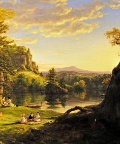 The Picnic - Thomas Cole