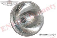 NEW REPLICA LUCAS HEAD LIGHT LAMP SEALED BEAM 7  BSA TRIUMPH NORTON ARIEL