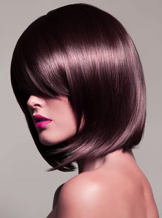 Chocolate Mauve/ Love as a highlight or balayage. Hate the cut, love the color!